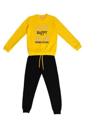 Tuta Ragazza Pierre Cardin giallo/nero Pantalone Nero