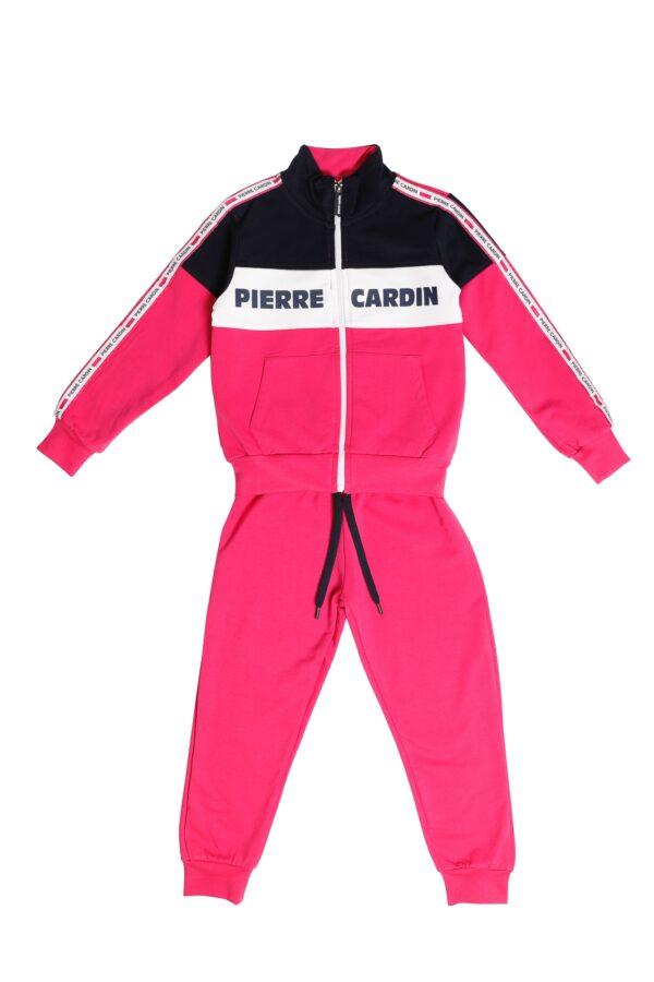 Tuta Femmina Pierre Cardin fuxia/blu/bianco con zip collo alla coreana Pantalone Fuxia