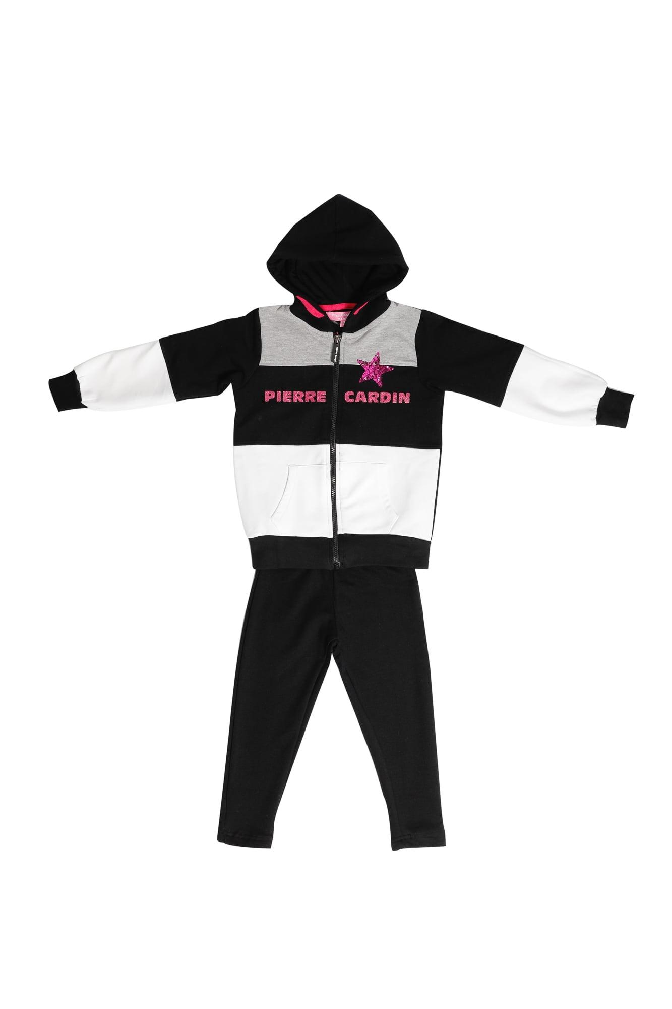 Tuta Femmina Pierre Cardin nero/grigio/bianco con zip e cappuccio Pantalone Nero