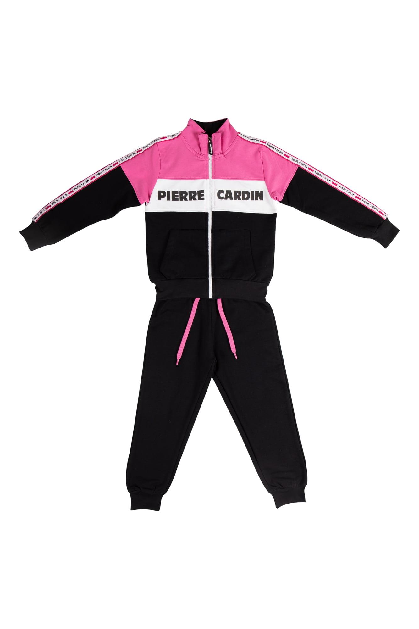 Tuta femmina Pierre Cardin nero/rosa/bianco con zip collo alla coreana Pantalone Nero