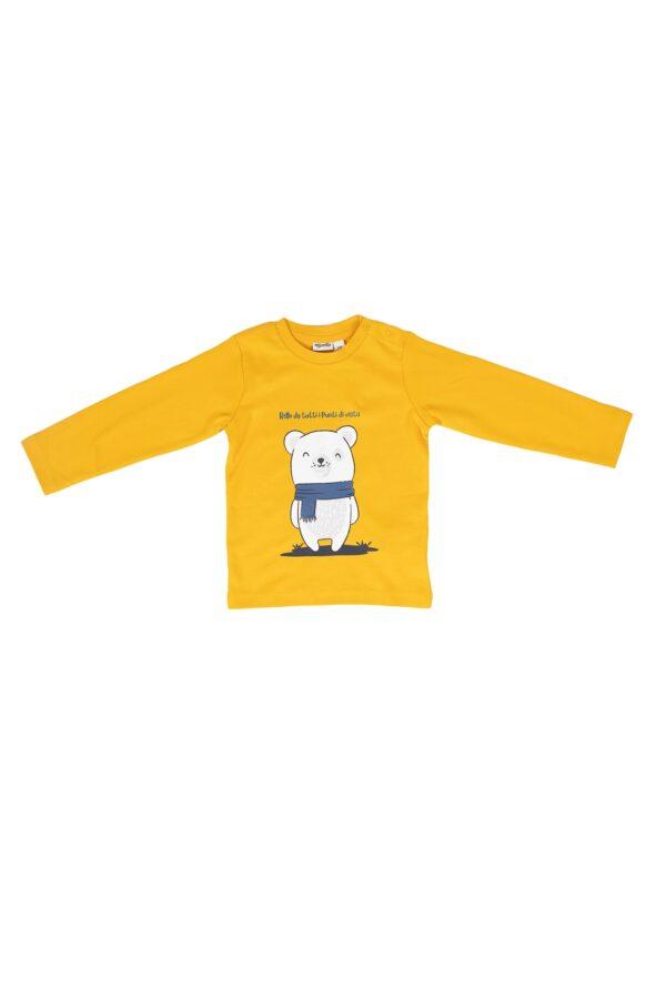 Maglietta Mignolo caldo cotone Gialla con disegno