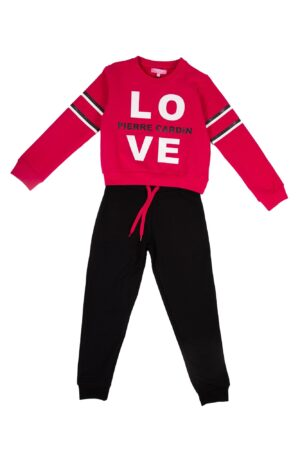 Tuta Bambina P.C. Fuxia - Love girocollo