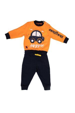 Tuta Guru bambino Arancione in cotone felpato