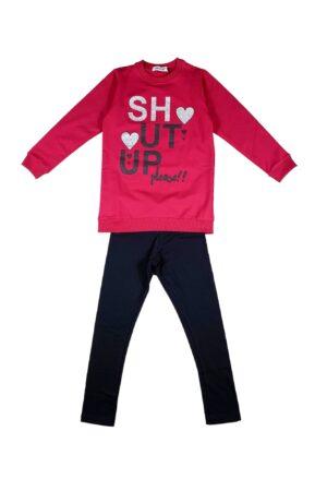 Completo ragazza Trend24 Rosso e nero