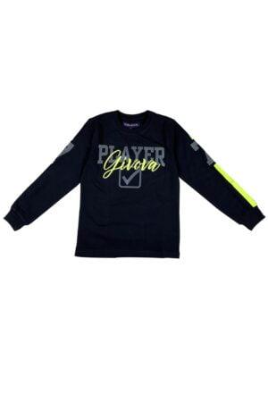 Maglietta Givova nera in caldo cotone