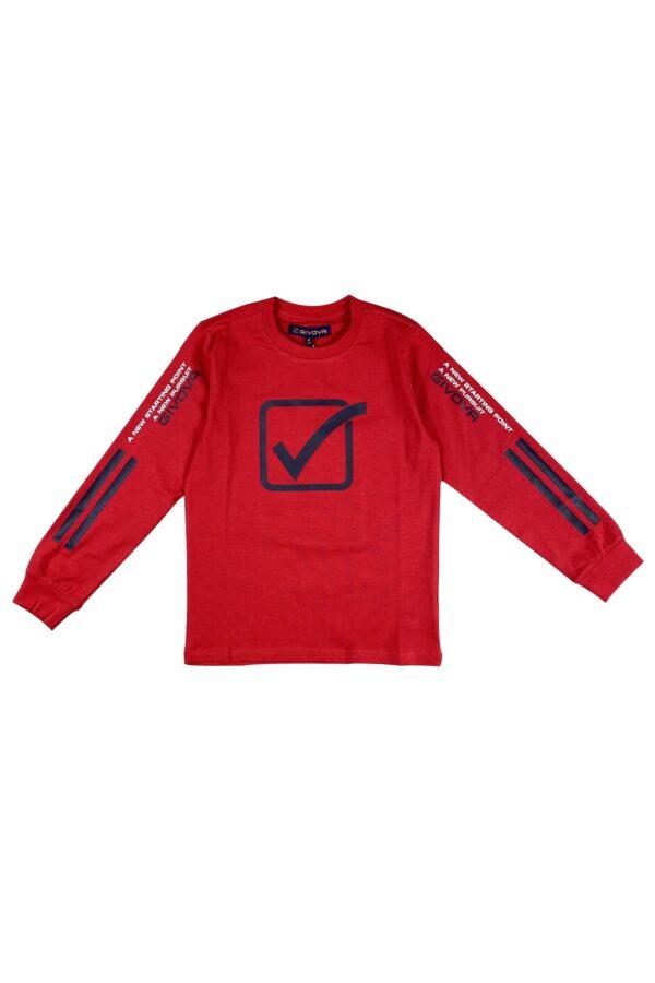 Maglietta Givova rosso in caldo cotone