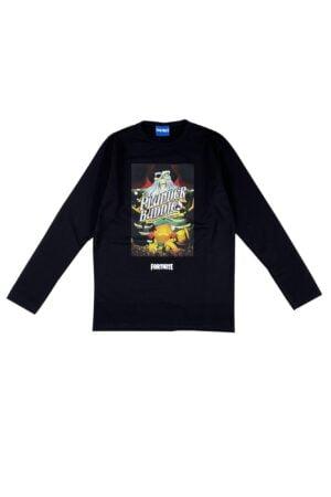 Maglietta Fortnite nera in caldo cotone