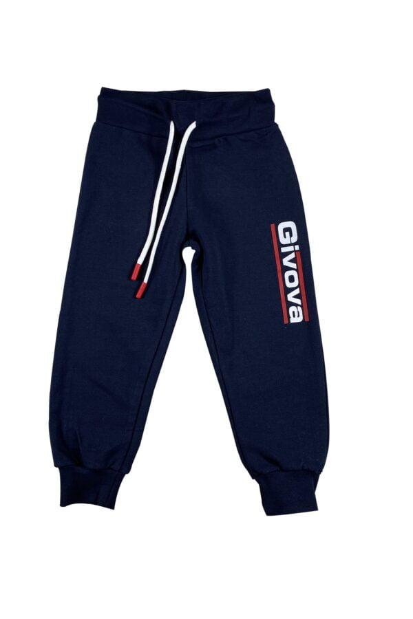 cappuccio e tasche Pantalone blu